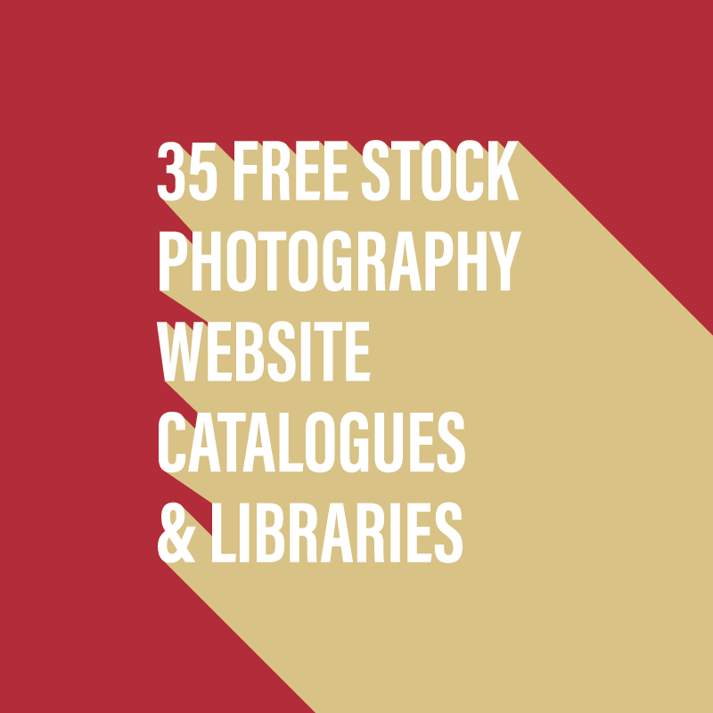35 free stock photography website catalogues & libraries