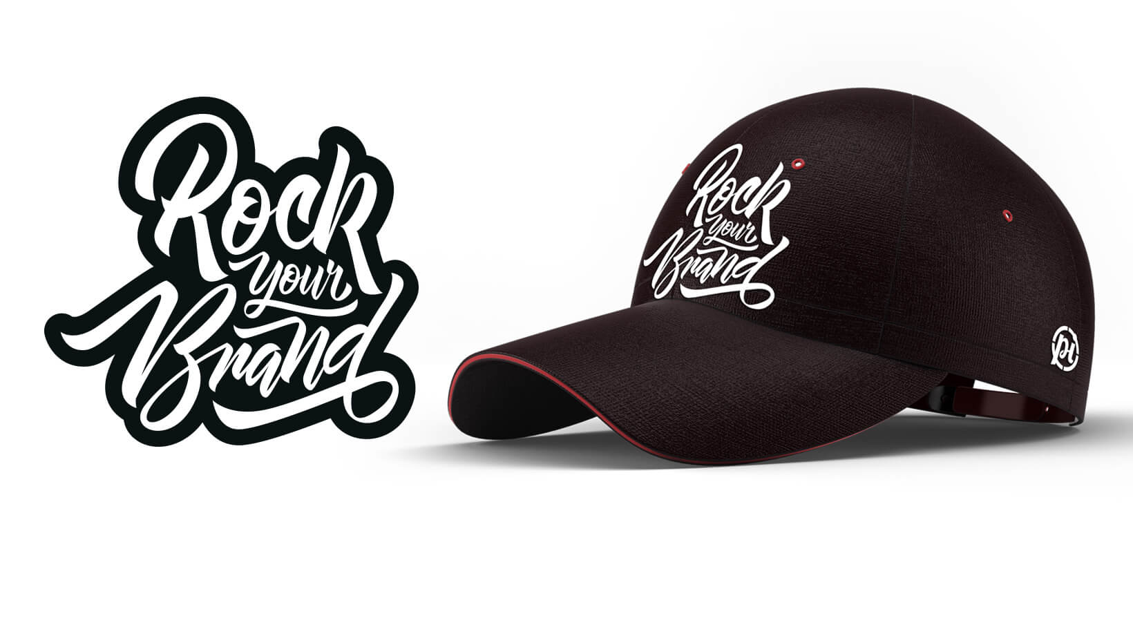 Rock Your Brand Logo and Cap Mock-Up